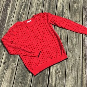 Red and Black Heart Sweater